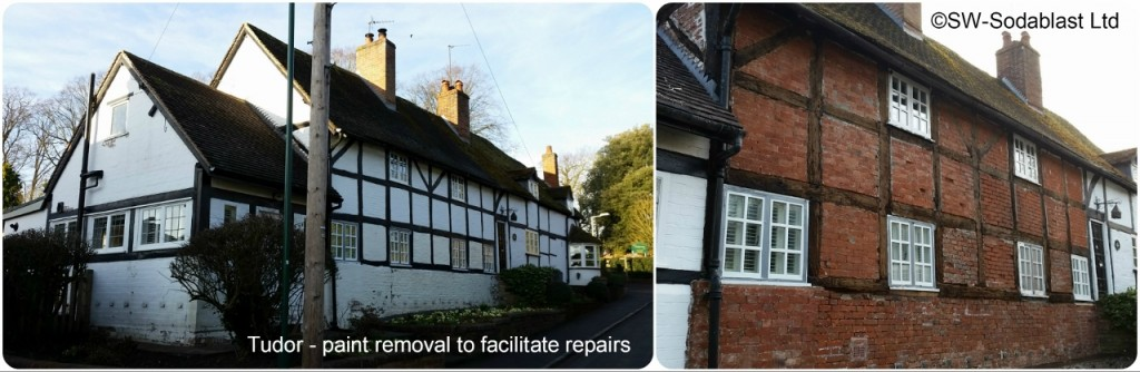 Tudor Home paint removal
